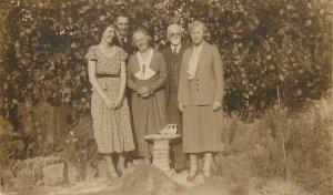 Postcard family photo elegant retro vintage styles outfits