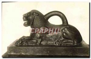 Postal Old Louvre Aniquites Asian Bronze Lion Card