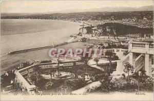 Postcard Old Nice Vue Generale decision Mont Boron