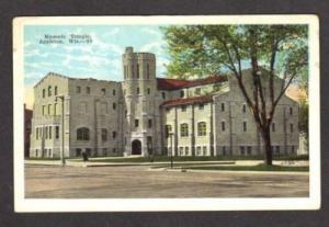 APPLETON WISCONSIN WI Masonic Temple Postcard OLD PC