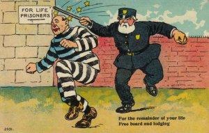 Comic; For Life Prisoner sees stars, 1900-10s