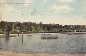 BALTIMORE, Maryland,PU-1910; Patterson Park Lake