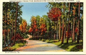 Massachusetts Sheffield Greetings From The Berkshire Hills Curteich