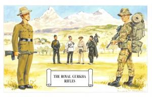 Postcard The Royal Gurkha Rifles, Himalayas, Nepal by Geoff White