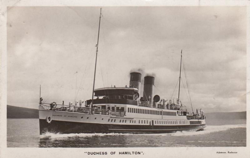 RP; Duchess of Hamilton, Steamer, PU-1932