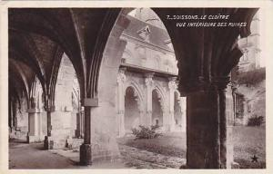RP; Interior View of Ruins, Le Cloitre, Soissons, Aisne, France, 10-20s