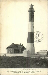 Fire Island NY Lighthouse Winfield B. Gorton c1905 Postcard