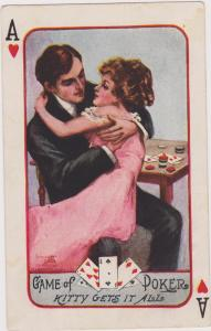Playing Cards; Ace of Hearts , Romance couple , PU-1910