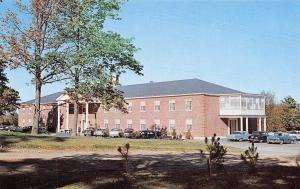 Belfast Maine~Waldo County General Hospital~Route 1~1950s Cars~Postcard