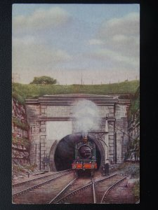 GWR Great Western Railway LOCOMOTIVE No.4002 at SEVERN TUNNEL - Old Postcard