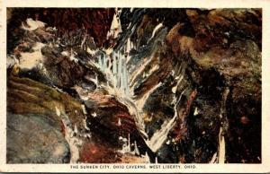 Ohio West Liberty Ohio Caverns The Sunken City Curteich