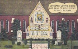Michigan Detroit Veterans Votive Shrine Our Lady Of Help Church Curteich