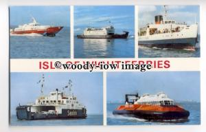 f0937 - 5 Isle of Wight Ferries - multiview postcard