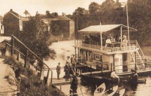The Marigold Floating Cafe Ship Restaurant Knaresborough Yorkshire Big Postcard