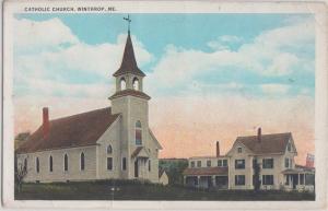 WINTHROP Maine - CATHOLIC CHURCH & Patronage 1920s / St Francis Xavier
