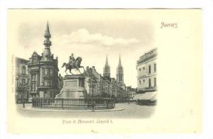 Anvers, Belgium, 1890s; Place et monument Leopold I