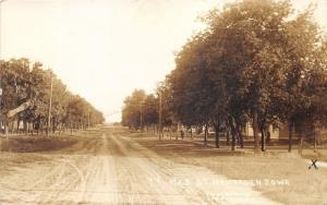 Hawarden Iowa~Residential Street Scene~Man on Sidewalk~c1910 C C Slack & Co RPPC