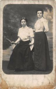 Two Women Clothing Vintage Postcard