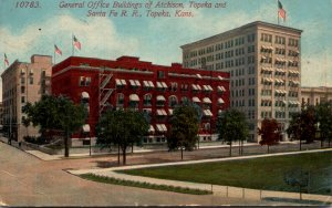 Kansas Topeka General Office Buildings Of Atchison Topeka and Santa Fe Railro...