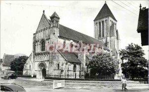 Modern Postcard Ouistreham Church twelfth century