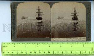 410096 RUSSIA Whaling ships Diana Novaya Zemlya Arctic Underwood STEREO PHOTO