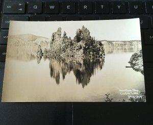 Antique Photo Postcard RPPC- Phantom Ship Crater Lake