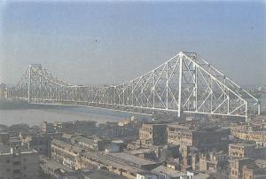 India Kolkata Calcutta Famous Howrah Bridge bruecke pont