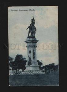 074139 Philippines Legaspi Monument Manila Vintage PC