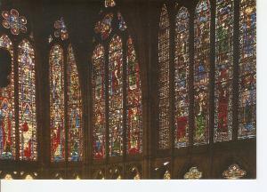 Postal 045610 : Leon. Catedral. Vidrieras altas del Presbiterio. Siglo XV