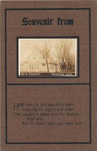 F24/ Holstein Iowa Real Photo RPPC Postcard c1910 M.E. Church