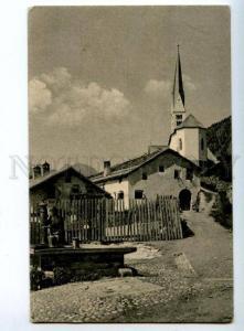 150704 Switzerland ZERNEZ Church Vintage RPPC to RUSSIA