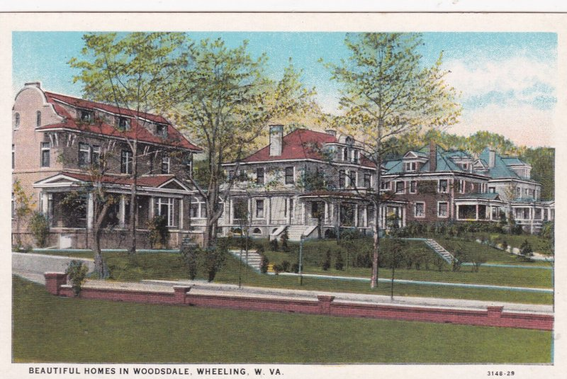WHEELING , West Virginia, 1900-10s ; Beautiful Homes in WOODSDALE