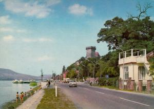Shore of the Danube with the Living-Tower, Budapest, Hungary, 50´s-70´s