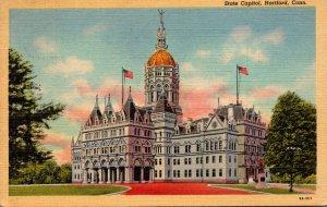 Connecticut Hartford State Capitol Building 1946 Curteich
