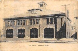 Fire Station Leominster, Mass., USA Massachusetts Fire Department 1906