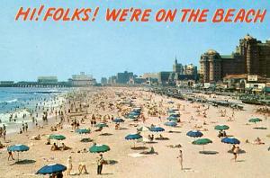 NJ - Atlantic City, Beach Scene