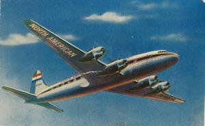 NORTH AMERICAN Airlines' 4 Engine Skymaster Airplane , 1940s-50s
