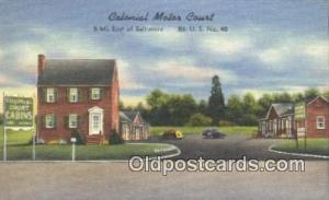 Colonial Motor Lodge, Springfield, Massachusetts, MA USA Hotel Postcard Motel...