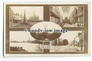 tq0132 - Yorks - Multiview x 5, of Various Scenic Views around Selby - Postcard