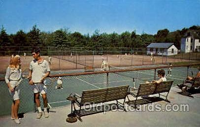 Concord Hotel, Kiamesha Lake, N.Y., USA Tennis, Old Vintage Antique, Post Car...