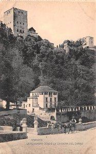 La Alhambra desde la Carrera del Darro Granada Spain Unused