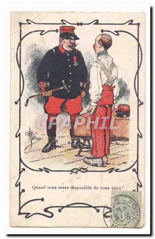 Vintage Postcard Militaria When you are available to conceal to you RARE