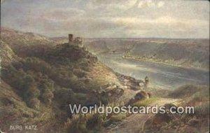 Burg Katz Swizerland 1927 Missing Stamp
