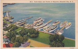 North Carolina Elizabeth City Aerial View Yacht Basin and Portion Of Shipyard