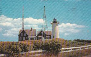 Massachusetts Cape Cod Coast Guard Lighthouse At Woods Hole 1963