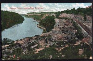 New York LEWISTON Niagara Gorge approaching - pm1907 - Und/B