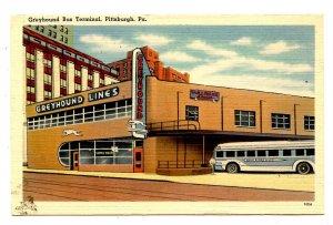 PA - Pittsburgh. Greyhound Bus Terminal