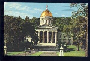 Montpelier, Vermont/VT Postcard, State Capitol Building, Golden Dome