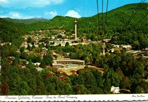 Tennessee Gatlinburg Seen From The Aerial Tramway
