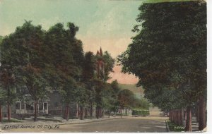 Postcard PA Pennsylvania Oil City Capital Avenue Posted 1913